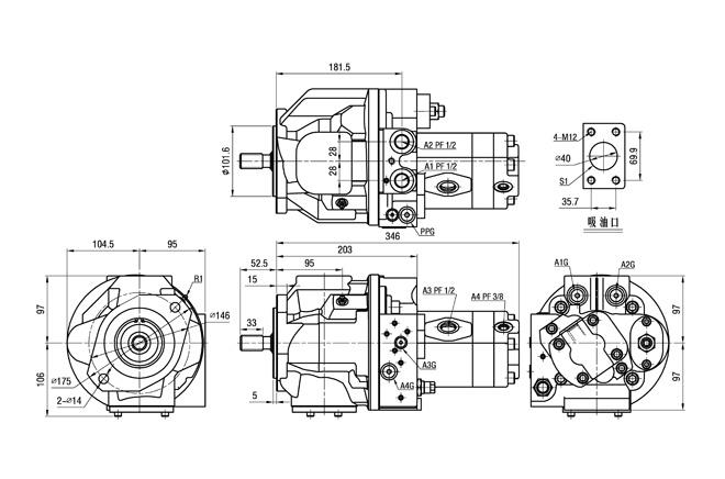 Daewoo DH55 DH60-7 Excavator Kawasaki Hydraulic Pump