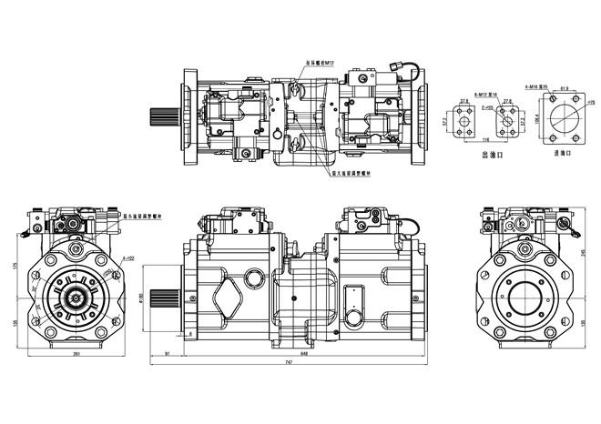 Hyundai R500 Excavator Hydraulic Pump Kawasaki Pump
