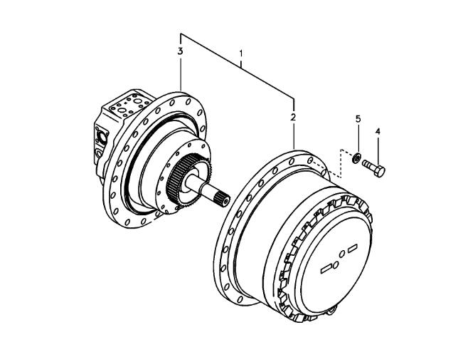 VOE14521691 Excavator Final Drive Assembly For Volvo