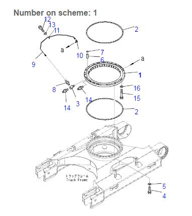 21K-25-00101 Excavator Swing Ring Circle Used For Komatsu