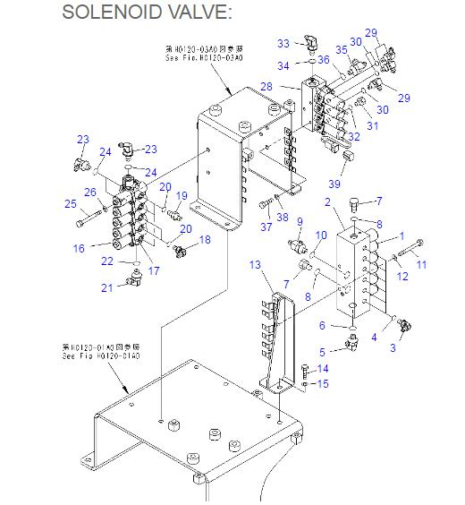 206-60-51130 206-60-51131 Komatsu Solenoid Valve For