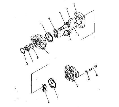 Gear Pump 705-40-01370 For Komatsu Excavator Hydraulic