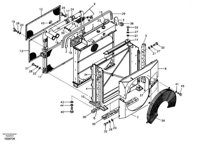 VOE14514357 14514357 EC240B EC290B Oil Cooler Radiator for