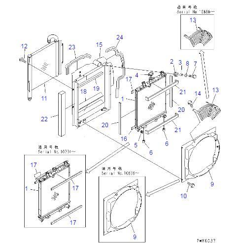 20T-03-81110 Komatsu Radiator For Komatsu Excavator PC30R