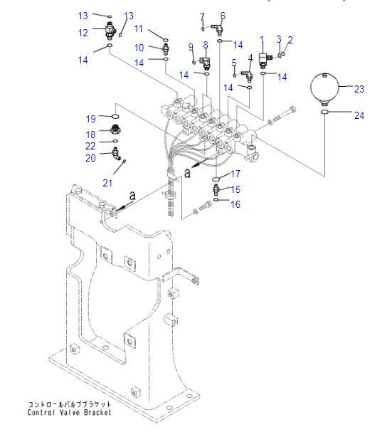 22U-60-21331 Accumulator Applied To PC130-8 PC300-8 PC400