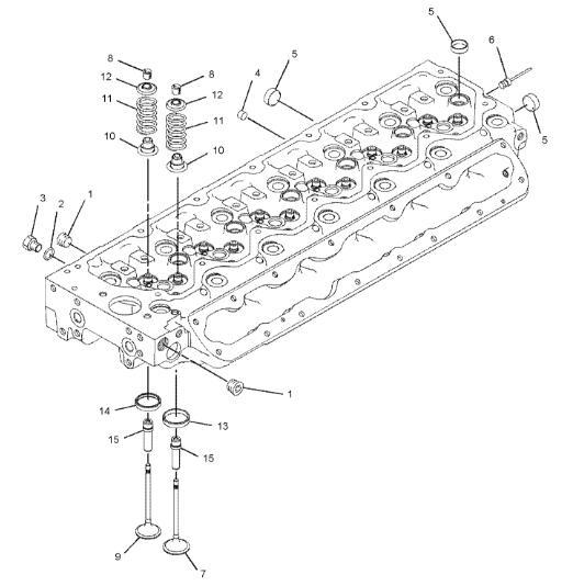 C6.6 Engine Cylinder Head 276-8115 Applied To Caterpillar