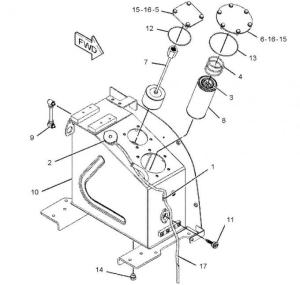 C33B S4Q2T Engine FILTER ELEMENT ASOIL 3047195 For