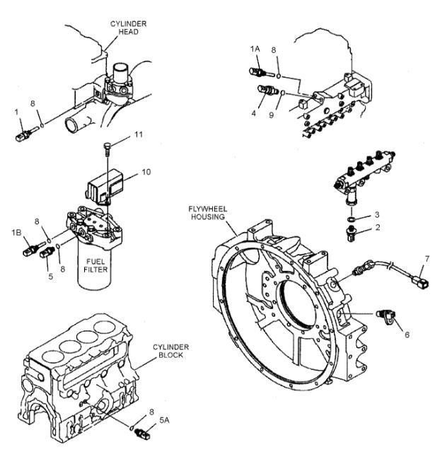 274-6721 Aftermarket Caterpillar Parts Pressure Sensor