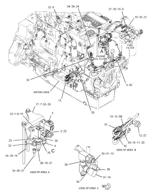 c15 caterpillar engine crankcase diagrams