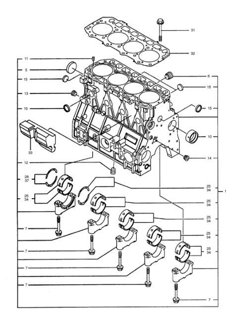 4TNV94 4TNV98 YANMAR Engine Cylinder Block 729906-01560