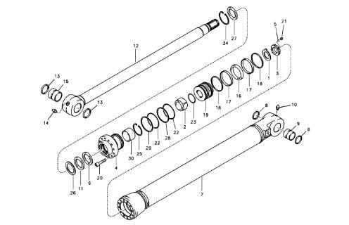 VOE14563986 VOE14563977 Excavator Hydraulic Cylinder