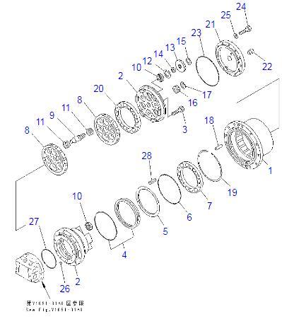 203-60-63102 203-60-63101 TZ270B1000-00 PC100-6 PC120-6