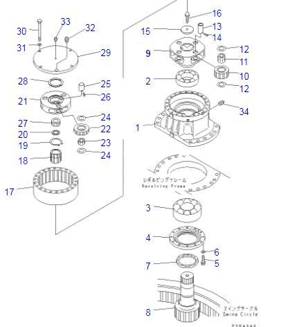 20Y-26-22170 20Y-26-22160 Excavator Swing Swing 2nd