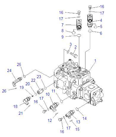 708-3S-00521 708-3S-00461 Excavator Hydraulic Pump Assy