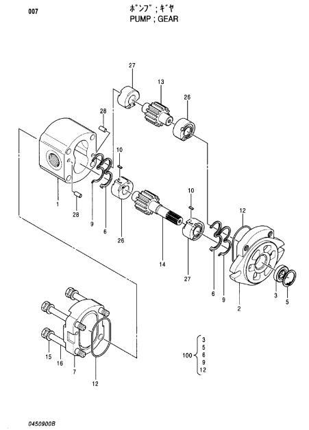 HPV102 Excavator Hydraulic Gear Pump 4276918 For EX100