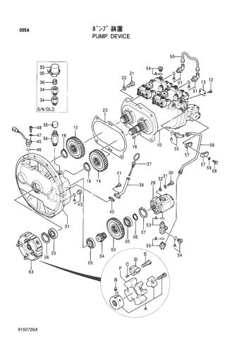 Hitachi EX200-5 Excavator Hydraulic Pump Parts 4276918