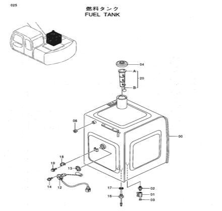 4257128 Floating Fuel Tank Sensor Applied To Hitachi EX200