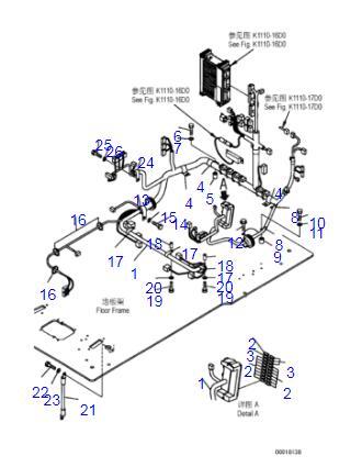 207-06-71562 PC300-7 PC360-7 Cab Internal Wiring Harness