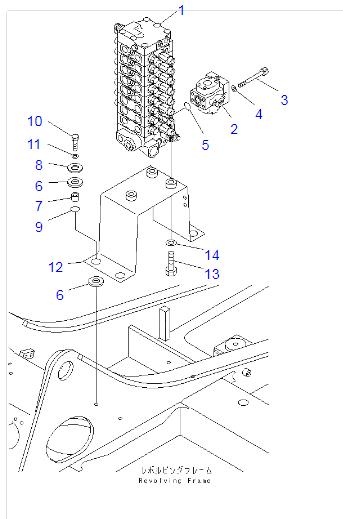 702-21-09154 702-21-09153 702-21-09155 Komatsu PC60-7 PC70