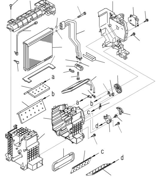 ND116420-7450 Komatsu PC200-8M0 PC300-8M0 Heater Core