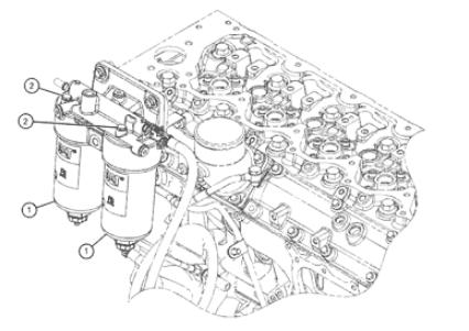 Durable Caterpillar Excavator Parts Engine Fuel Filter 360