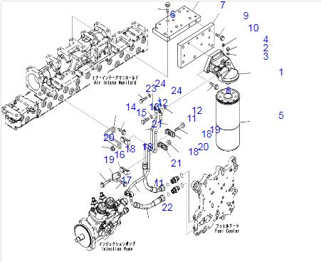 07005-00812 Seal Gasket For Komatsu Excavator Spare Parts