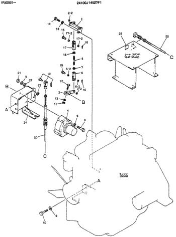 2406U197F4 2406U197F3 Throttle Motor Stepping Motor