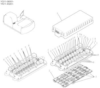 YN24E00016F2 Fuse Box Assy Relay Box Mini Excavator Parts