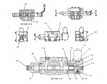4I5674 Hydraulic Solenoid Valve Excavator Components For