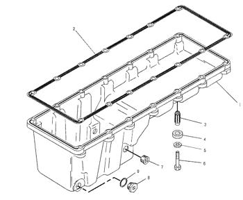 7C8296 C12 Oil Pan Isolator Excavator Engine Parts For Cat
