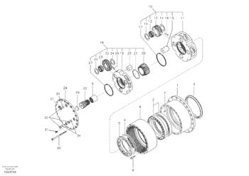 SA7117-30180 Flexible Coupling Gear Excavator Final Drivel
