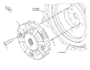 3244184 Flexible Coupling Excavator Spare Parts For Cat 345C