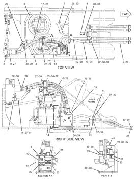 Caterpillar Excavator Parts 221-8859 2218859 High Pressure