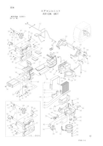 4609049 Air Conditioner Unit Excavator Spare Parts For