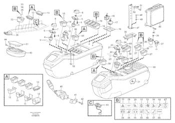 VOE14390065 14390065 Excavator Monitor Volvo EC210B