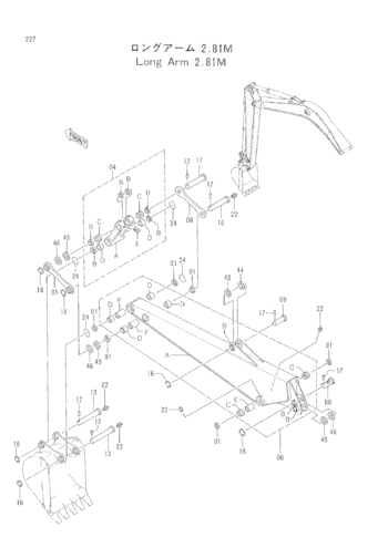 4276696 Bucket Linkage O Ring Hitachi Excavator Seal Kits