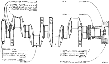 4N-7692 5S5252 3304 Engine Crankshaft For Caterpillar Cat 225