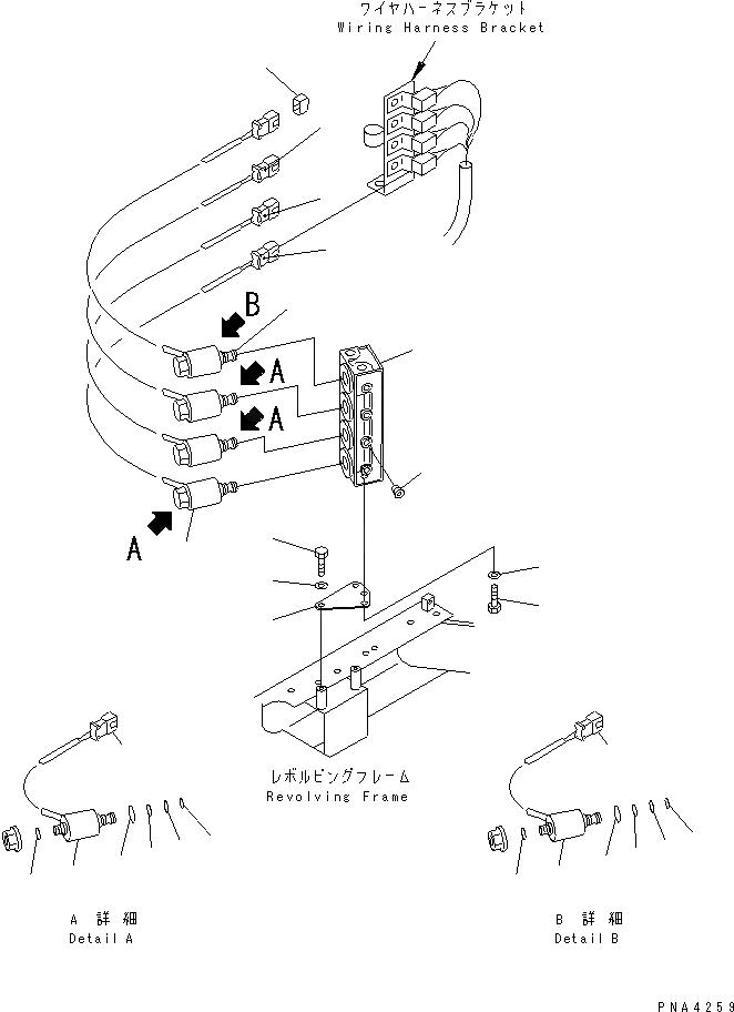 201-62-65540 201-62-65541 Solenoid Valve Block For Komatsu