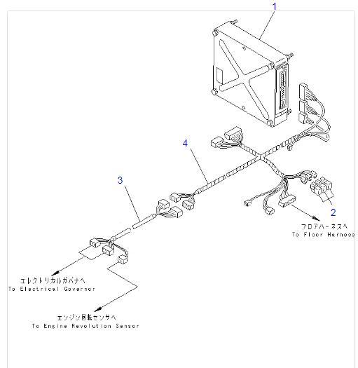 6151-81-4280 6221-81-4220 Wiring Harness For Komatsu Wheel
