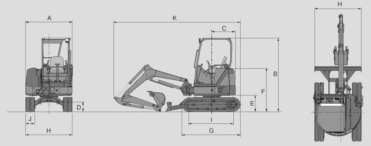 Аренда мини-экскаватора Hitachi ZX 27U-2 недорого