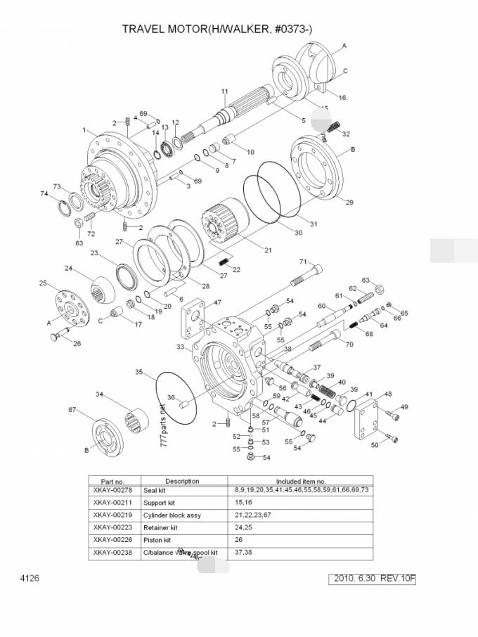 Original Excavator Travel Motor Assy 31N8-40053 XJCK-0081
