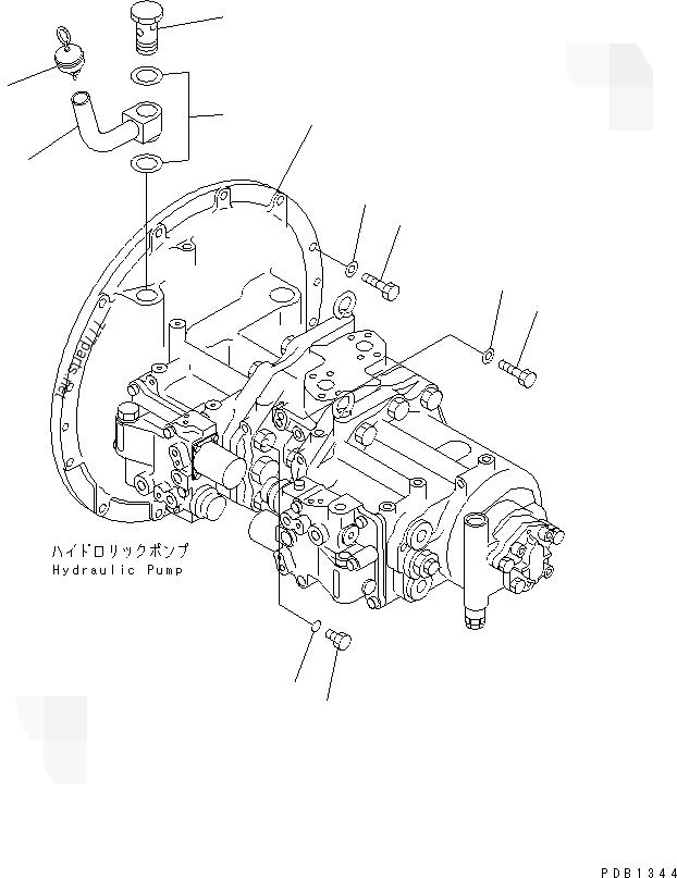 HPV35 PC350-6 PC400-6 PC450-6 Komatsu Excavator Pump Parts