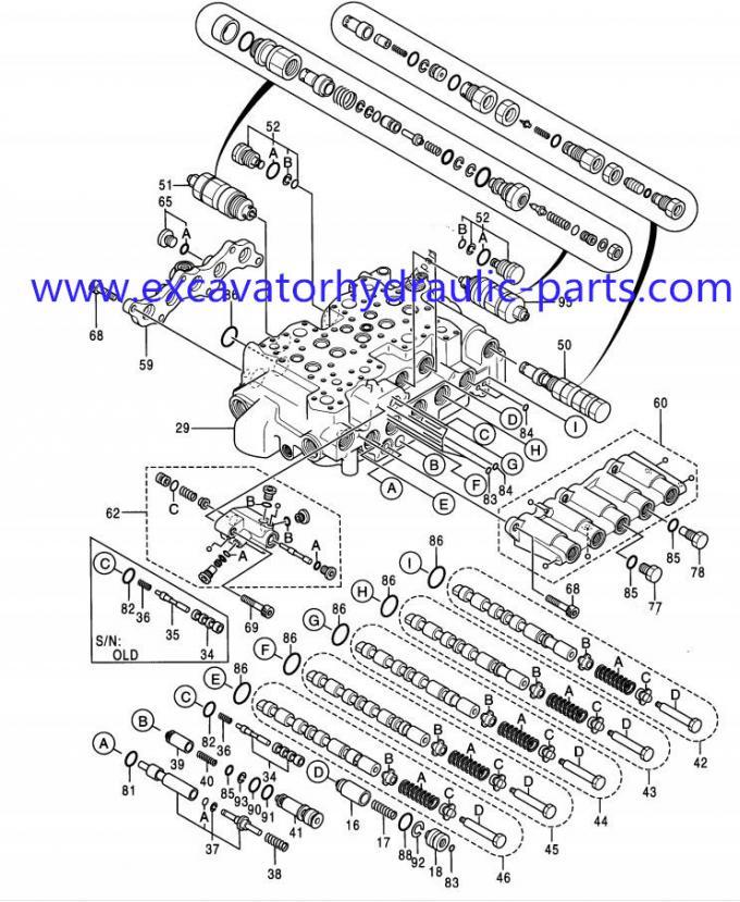 Hitachi 4372039 Construction Equipment Parts EX200-3 EX200