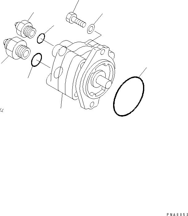 705-40-01370 PC75UU-2 Hydraulic Gear Pump Charge Pump For