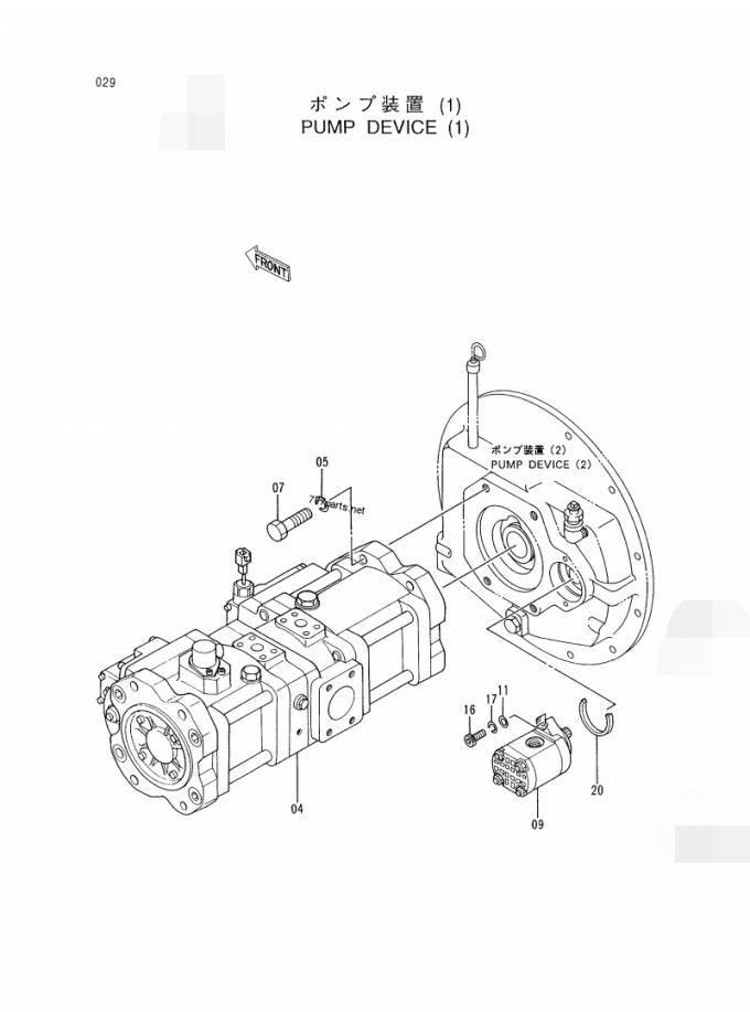 Customized Excavator Hydraulic Pump HITACHI KOBELCO