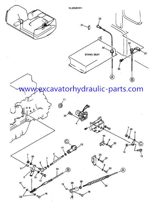 Kobelco Excavator Spare Parts SK200-6 SK70 SK60SR