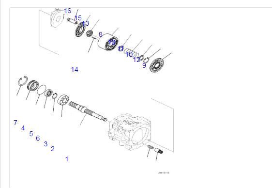 Mini Excavator PC56-7 Hydraulic Pump Cylinder Block 708-3S