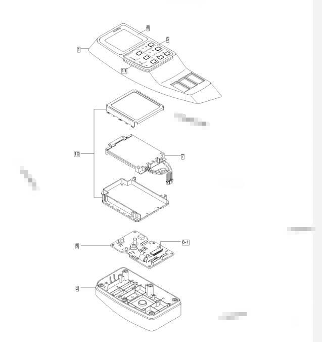 Hyundai Excavator Monitor Cluster R210LC-7 R250LC-7 R290LC