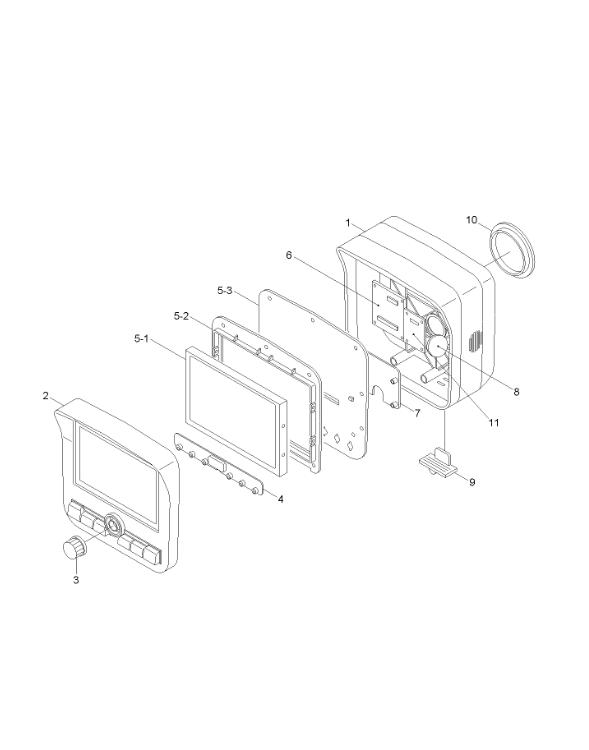 R210-9 Excavator Monitor Display Panel 21Q6-30104 21Q6