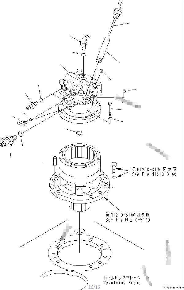 708-7T-00360 PC60-7 Excavator Hydraulic Swing Motor